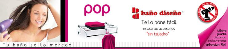 Accesorios de ba o pop ba o dise o cuarto de ba for Accesorios ducha sin taladro