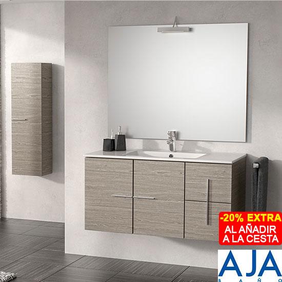 Mueble Baño Roble Gris:Mueble de baño ATICO Aja