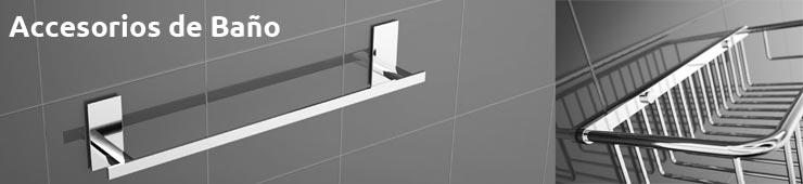 Accesorios de ba o toalleros calienta toallas apliques for Accesorios ducha sin taladro