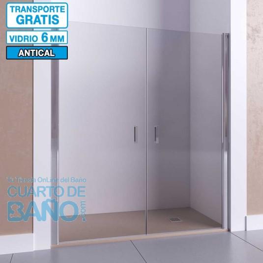 Mampara de ducha frontal con puerta abatible AFRODITA de Seviban