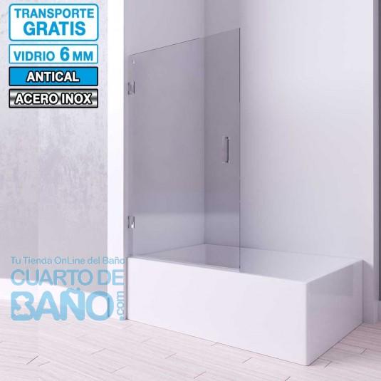 Mampara de bañera frontal con puerta bisagras MINTA de Seviban