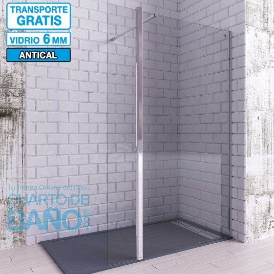 Mampara de ducha Hoja Fija + Abatible TELLA de Seviban