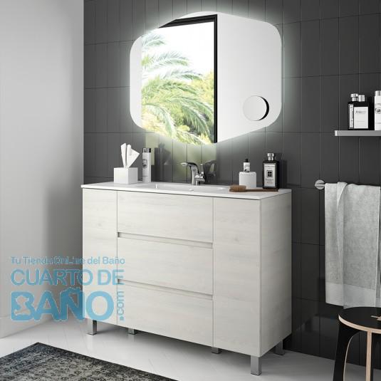 Mueble de baño MODULAR FUSSION LINE Salgar 110 cm (25+60+25) a suelo con lavabo