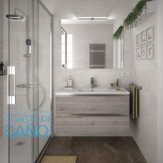 Mueble de baño SPIRIT Salgar 2 CAJONES suspendido 100 cm