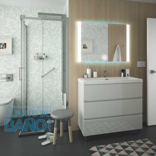 Mueble de baño FUSSION LINE Salgar 100 cm 3 cajones con LAVABO