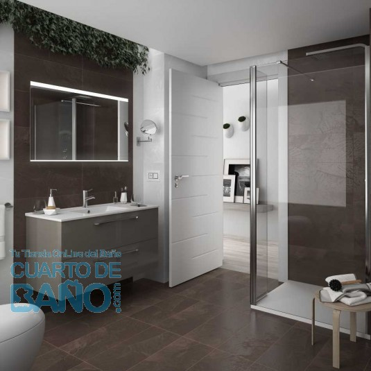 Mueble de baño FUSSION CHROME Salgar suspendido 100 cm