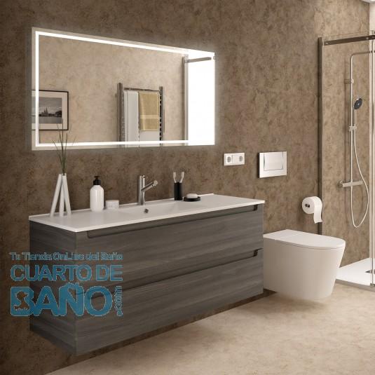 Mueble de baño MONTERREY Salgar suspendido 120 cm 2 cajones con LAVABO