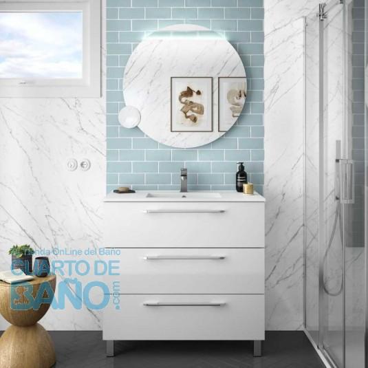 Mueble de baño FUSSION CHROME Salgar 90 cm 3 cajones