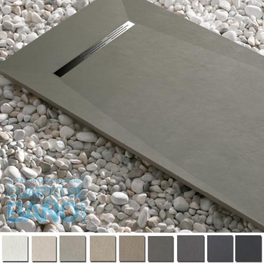 Plato de ducha resina ADVANCE de Kretta carga mineral HASTA 200 cm