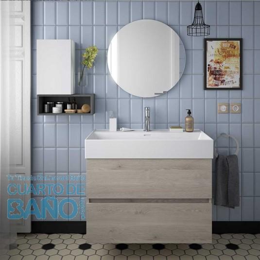 Mueble de baño FUSSION LINE Salgar suspendido 80 cm con LAVABO