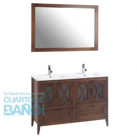 Mueble de baño rústico ÁVILA con patas 120 cm