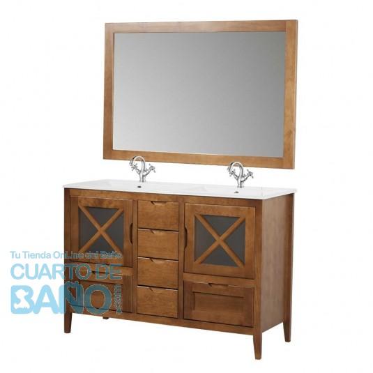 Mueble de baño rústico ÁVILA con cajones y patas 120 cm