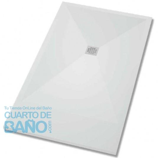 Plato de ducha textura LISA Solid Surface BASIC de BSurface