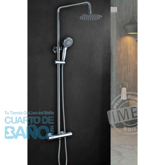 Barra de ducha termostatica serie Kent BTK017 de IMEX Grifería