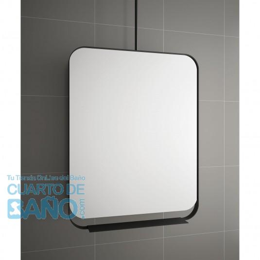 Espejo BLACK STREAM 700 vertical con marco metálico, giratorio 700 x 900 mm
