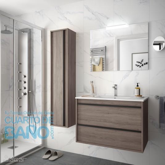 Mueble de baño ATTILA 800 de Salgar con lavabo cerámico Eternity