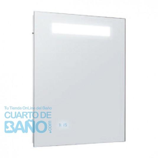 Espejo baño 550x650 iluminación led, reloj digital y antivaho JCD-EB1430-NF