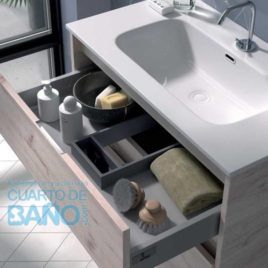 Detalle lavabo Mueble de baño ETNA Duplach 2 cajones