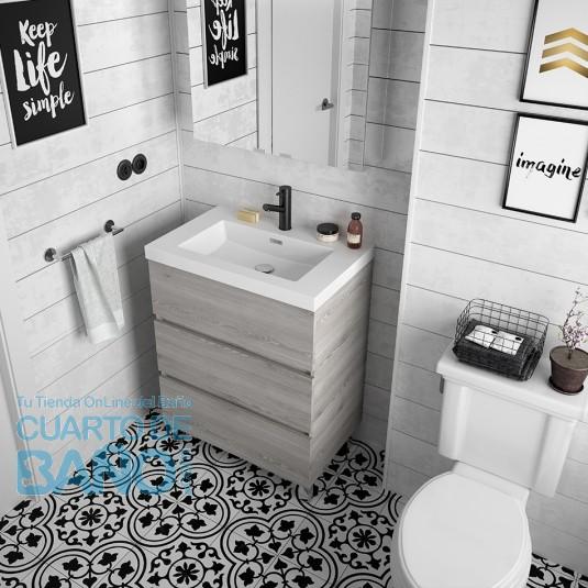 Mueble de baño FUSSION LINE Salgar a suelo 70 cm con LAVABO