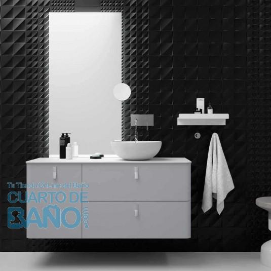 Mueble de baño UNIIQ HUMO Mate Salgar 120 cm