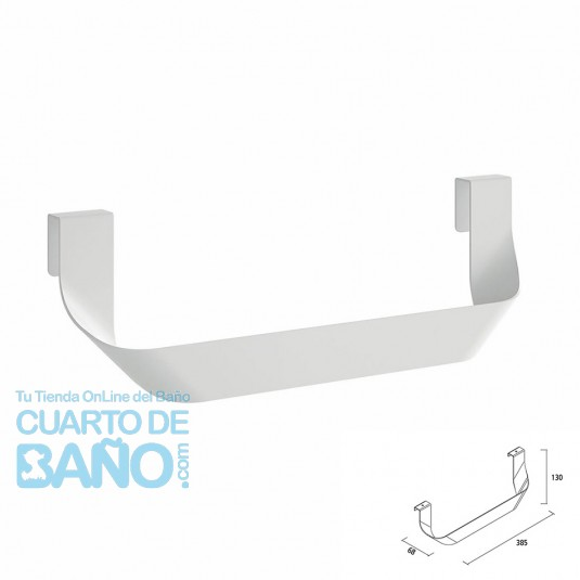 Toallero doble JAZZ Salgar Blanco Brillante para mueble 23028