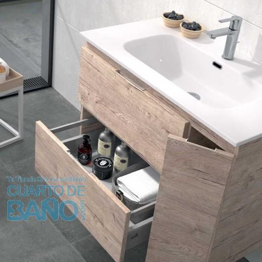 Mueble de baño KULA Duplach 2 cajones y puerta con LAVABO