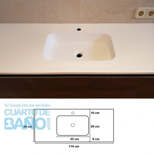 Lavabo de carga mineral ZEUS 110 cm