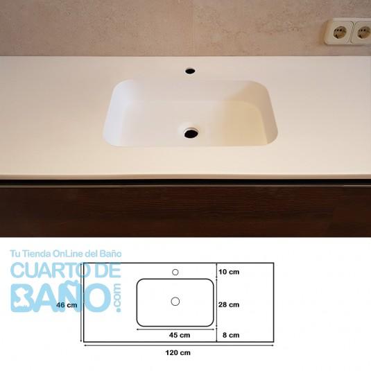 Lavabo de carga mineral ZEUS 120 cm