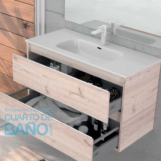 Mueble de baño NASU Duplach 2 cajones con LAVABO