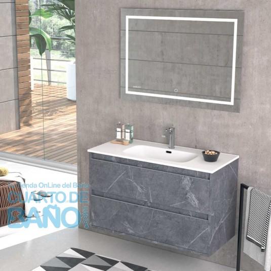 Detalle Mueble de baño NASU Duplach 2 cajones Marquina