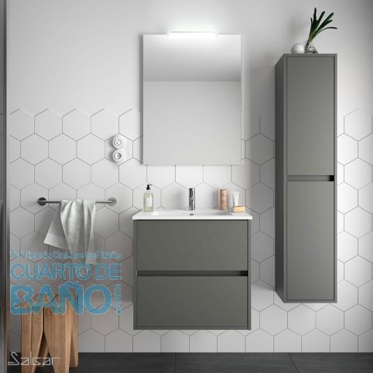 Mueble de baño NOJA Salgar 60 cm con LAVABO Gris Mate