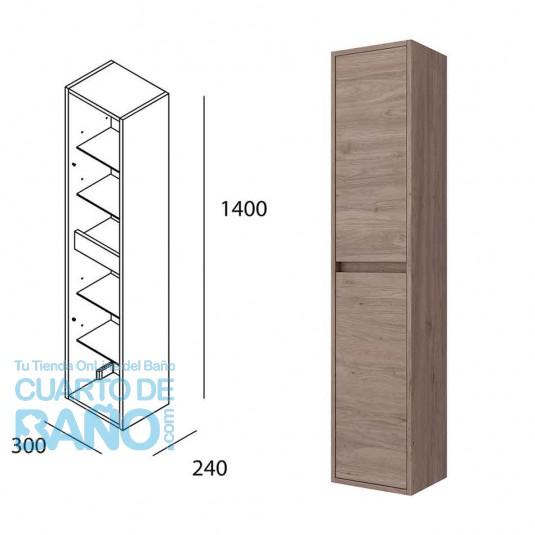 Mueble auxiliar baño NOJA/ARENYS Salgar pared 140 cm Roble Eternity 85177