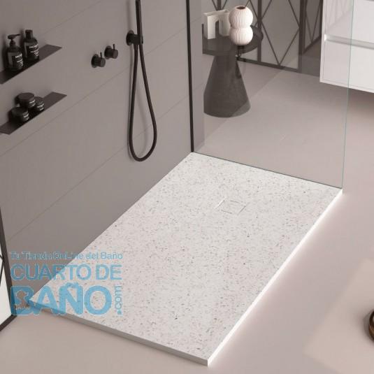 Plato de ducha resina GRANITO de DUPLACH de carga mineral y gel coat