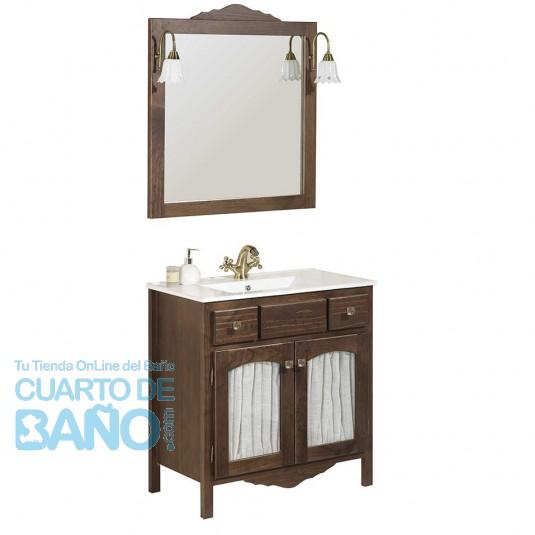 Mueble de baño rústico RONDA con patas 100 cm con LAVABO