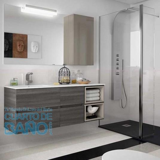 Mueble de baño MODULAR FUSSION LINE Salgar 2 cajones de 140 cm (60+40+40) con LAVABO desplazado