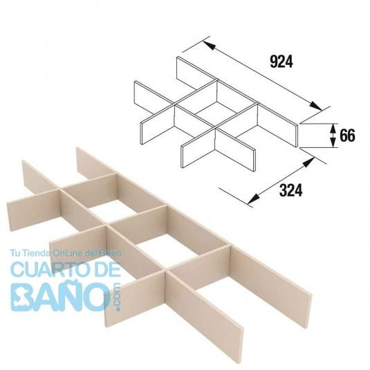 Separadores de cajón muebles ancho 100 cm fondo 45 Salgar 85230