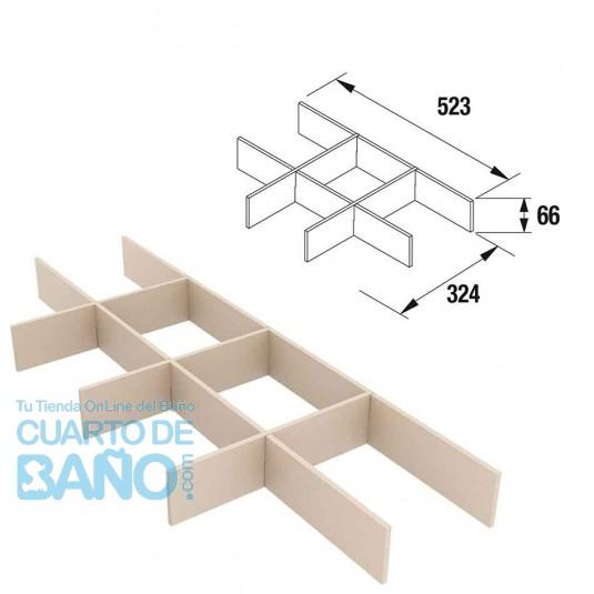 Separadores de cajón muebles ancho 60 cm fondo 45 Salgar SLG-SO-85228