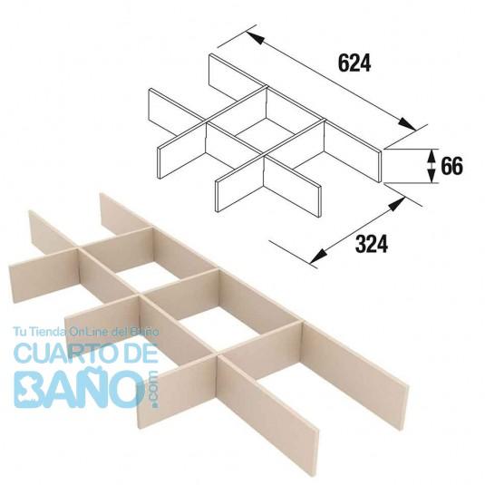 Separadores de cajón muebles ancho 70 cm fondo 45 Salgar 85231