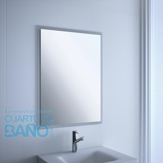 Espejo baño GALIA Salgar H/V 550x660 marco transparente 16944  CuartodeBaño.com