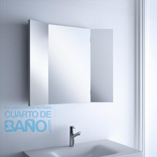 Espejo baño TRIPTICO Salgar 800x650x19 2 hojas abatibles 17014  CuartodeBaño.com