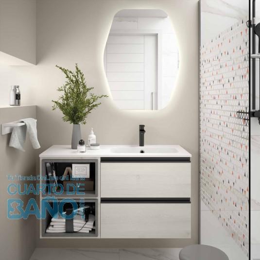 Mueble de baño MODULAR SPIRIT Salgar de 100 cm (60+40) con LAVABO desplazado