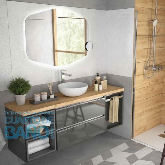 Mueble de baño MODULAR SPIRIT Salgar de 160 cm (40+80+40 ...