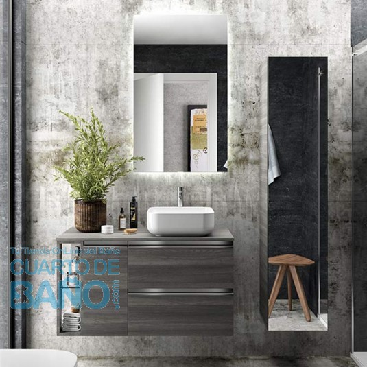 Mueble de baño MODULAR SPIRIT Salgar de 100 cm (60+25+15) con LAVABO desplazado