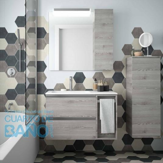Mueble de baño MODULAR SPIRIT Salgar de 85 cm (60+25) con ...