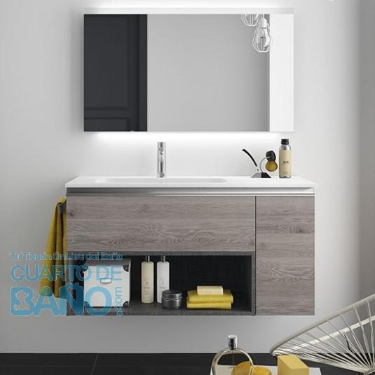 Mueble de baño MODULAR SPIRIT Salgar de 105 cm (80+25) con ...