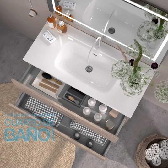 Mueble de baño TEIDE Duplach 2 cajones con LAVABO