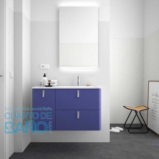 Mueble de baño UNIIQ AZUL ALTAMAR Mate Salgar 120 cm