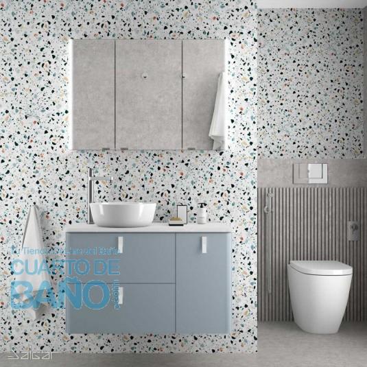 Mueble de baño UNIIQ BLUE FOG Mate Salgar 120 cm