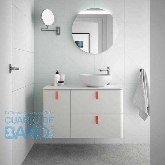 Mueble de baño UNIIQ Salgar 90 cm con LAVABO sobre encimera NATA