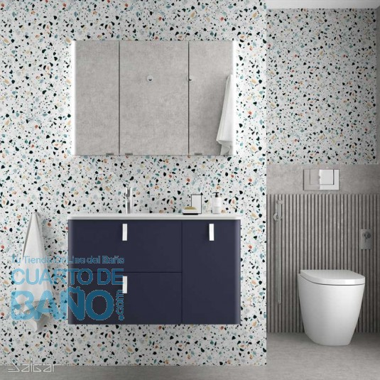 Mueble de baño UNIIQ NIGHT BLUE Mate Salgar 90 cm